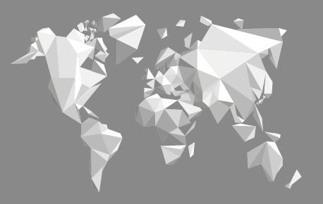 世界地図 デザインマップ