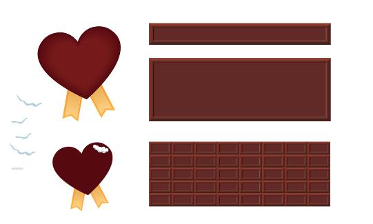 チョコレート ハート