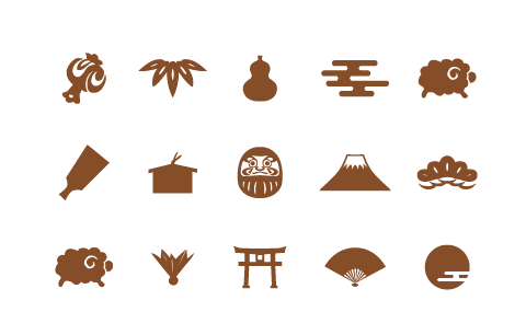 羊 富士山 ダルマ 羽子板 など
