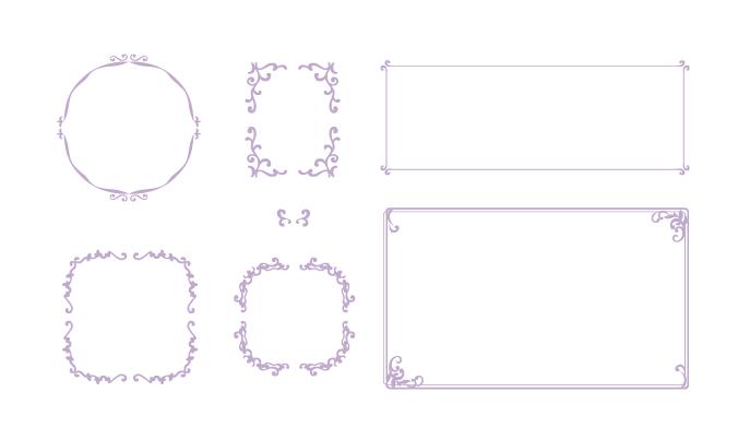 枠素材 飾り罫フレーム