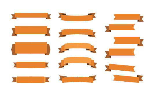 リボン素材-色はオレンジ
