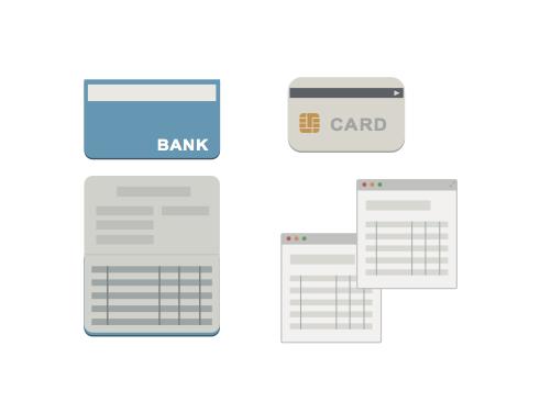 銀行 カード アイコン