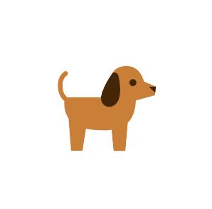 犬のイラストアイコン素材 フリー素材 ブログ