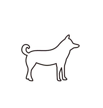 犬のシルエットアイコン フリー素材 ブログ