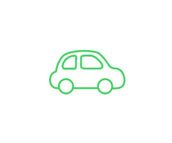 Car Icon Green フリー素材 ブログ